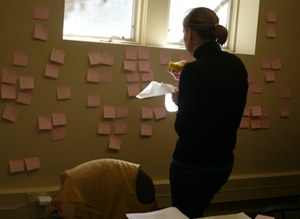 Affinity diagramming takes a long time — bring rations!